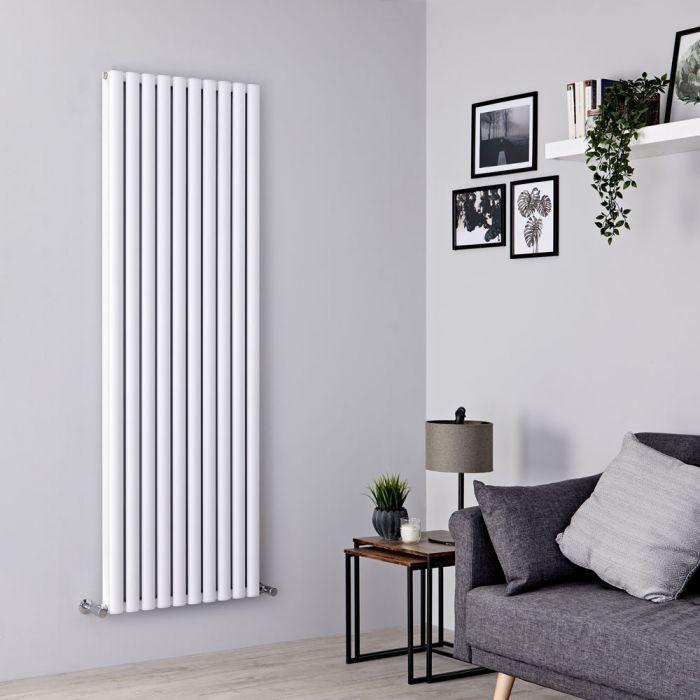 Milano Aruba Ayre - Aluminium White Vertical Designer Radiator - 1800mm x 590mm (Double Panel)