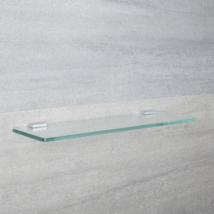 Milano Arvo - Modern Chrome Glass Bathroom Shelf