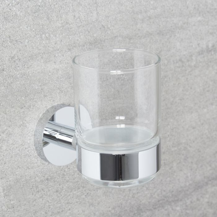 Milano Mirage - Modern Tumbler Holder - Chrome