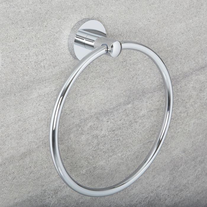 Milano Mirage - Modern Towel Ring - Chrome