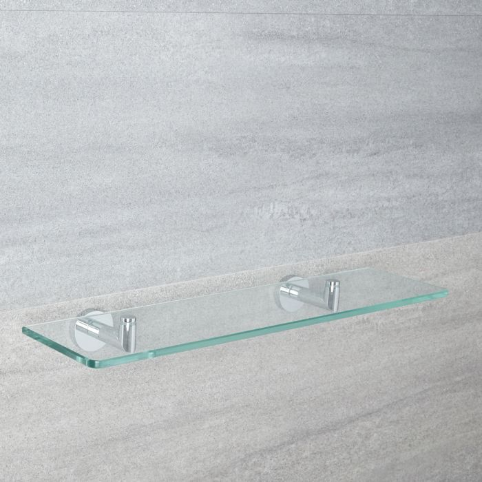 Milano Mirage - Modern Chrome Glass Bathroom Shelf