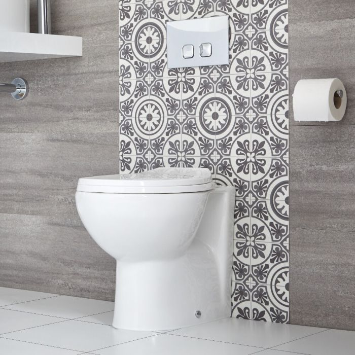 Milano Select - Modern Oval Back to Wall Toilet with Soft Close Seat