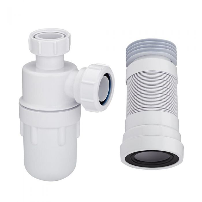 McAlpine - Bottle Trap and Pan Connector for Close Coupled Toilet and Pedestal Basin