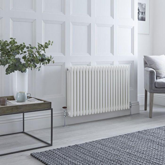 Milano Windsor - White Horizontal Traditional Column Radiator - 600mm x 1010mm (Triple Column)