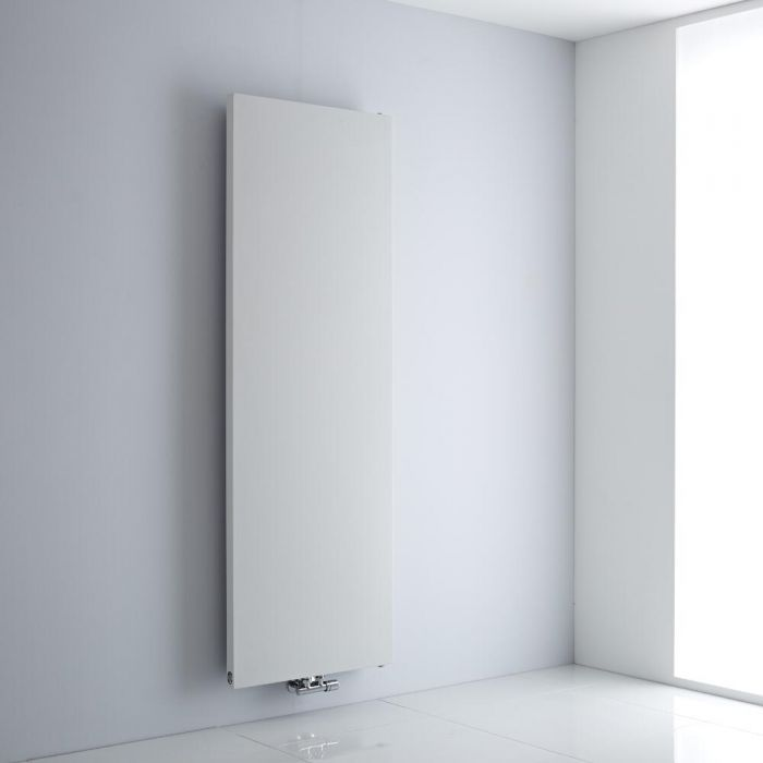 Milano Riso - White Vertical Designer Radiator - 1800mm x 600mm