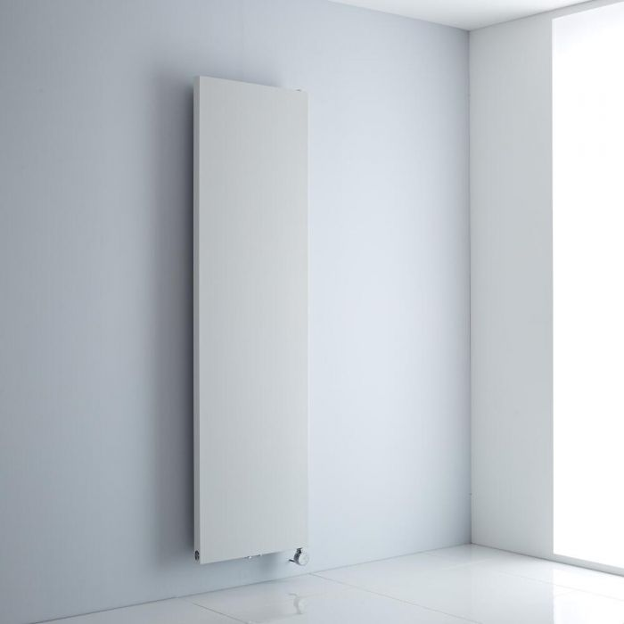 Milano Riso Electric - White Flat Panel Vertical Designer Radiator 1800mm x 500mm