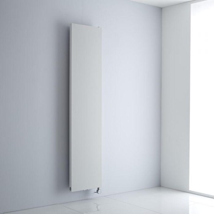 Milano Riso Electric - White Flat Panel Vertical Designer Radiator - 1800mm x 400mm