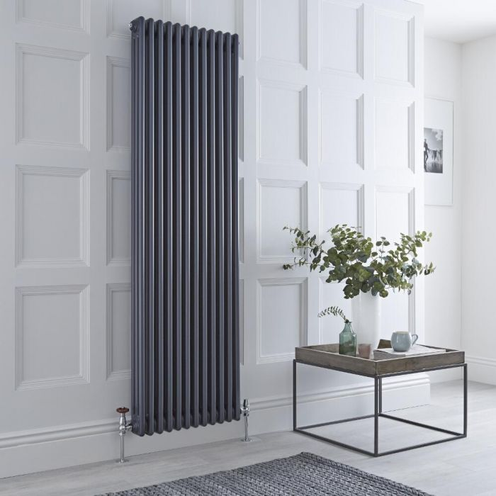 Milano Windsor - Anthracite Vertical Traditional Column Radiator - 1800mm x 560mm (Triple Column)