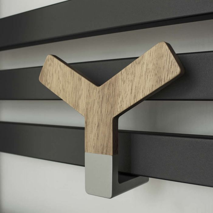 Lazzarini Way - Y Wood Holder for Designer Radiators and Towel Warmers