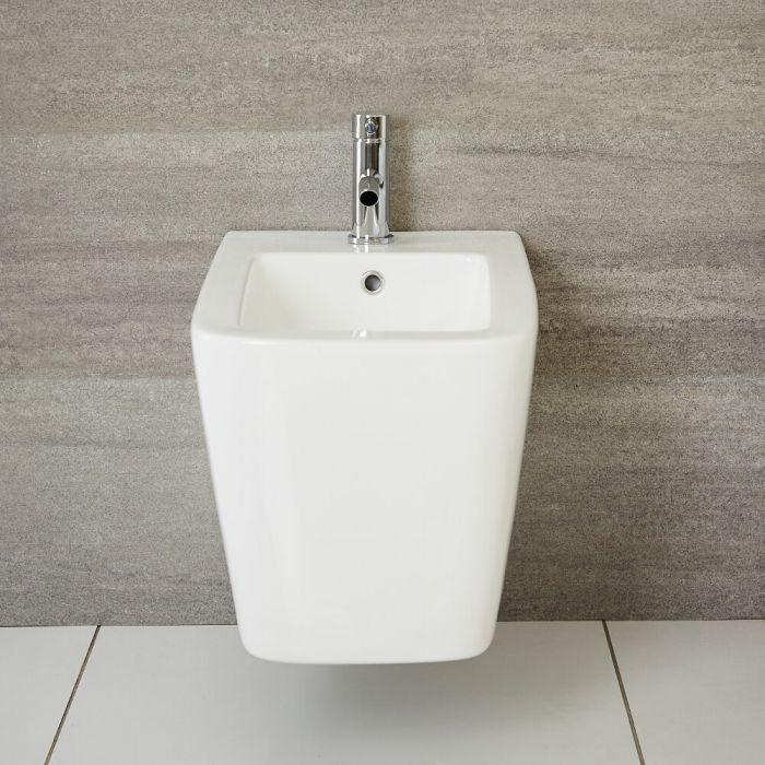 Milano Elswick - White Modern Wall Hung Bidet