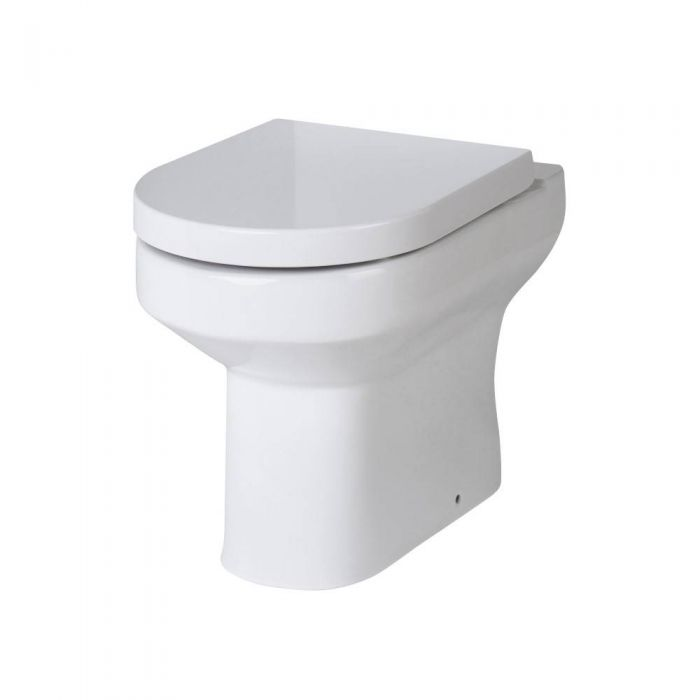 Milano Ballam - Modern Back to Wall Toilet with Soft Close Seat
