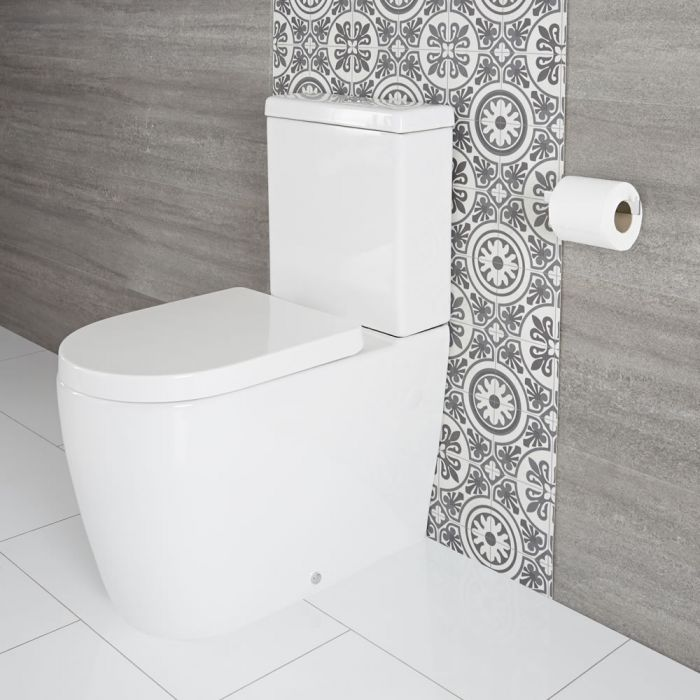 Milano Overton - Modern Close Coupled Toilet with Soft Close Seat