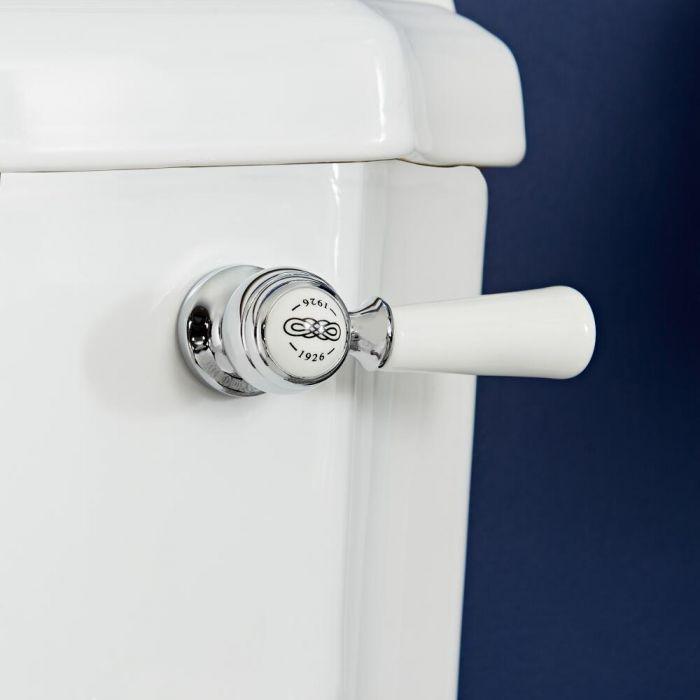 Milano Elizabeth - Traditional Ceramic Flush Lever - Chrome/White
