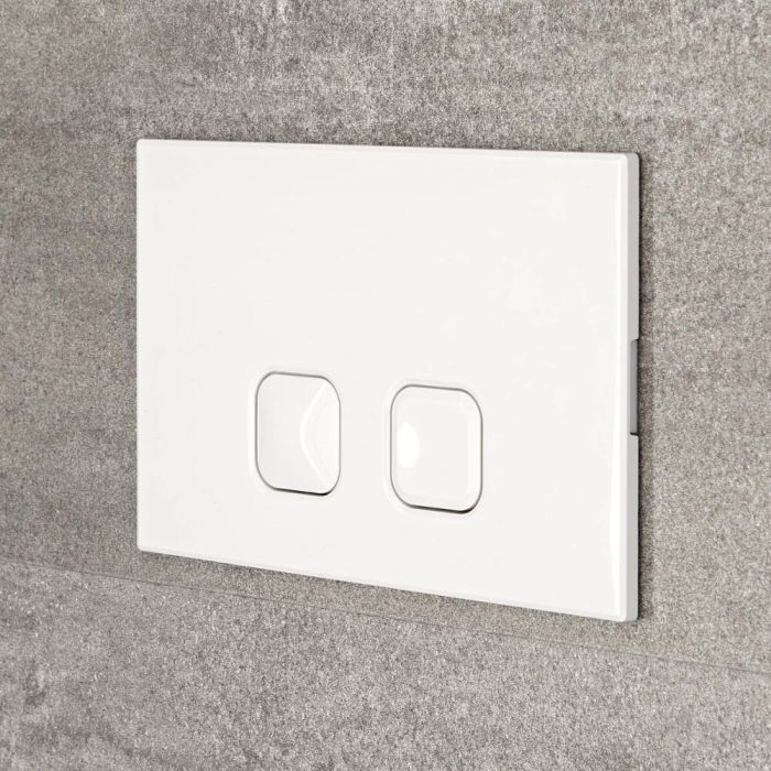 Milano - White Square Flush Plate - 150mm x 230mm