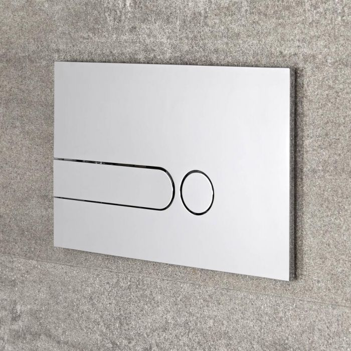 Milano - Chrome Square Dot Flush Plate - 150mm x 240mm