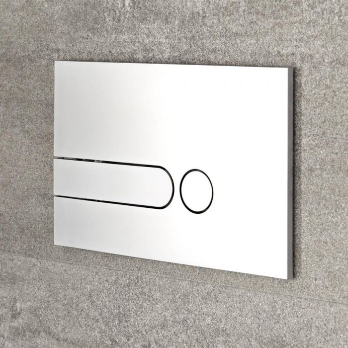 Milano - Satin Chrome Square Dot Flush Plate - 150mm x 240mm