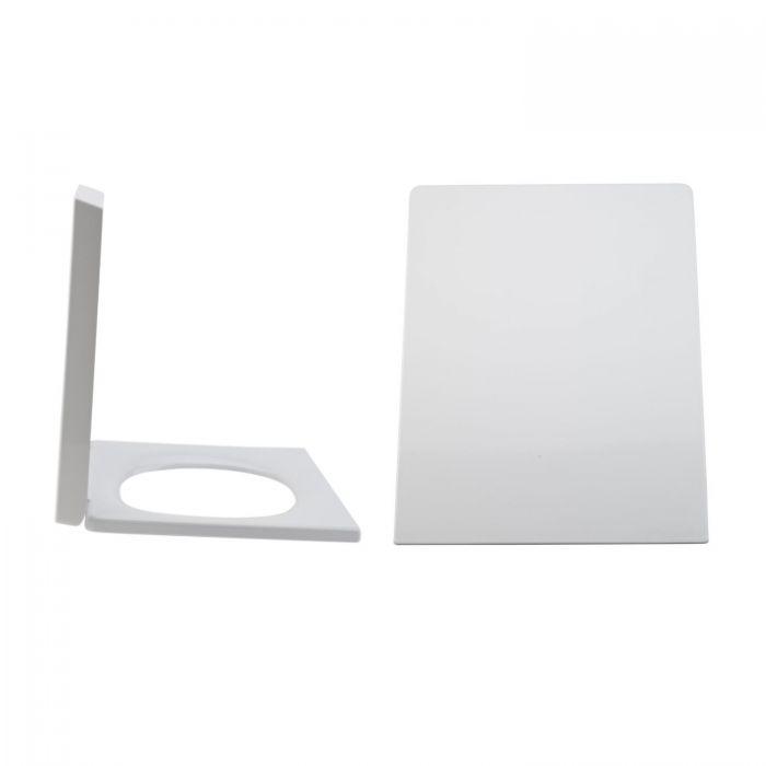 Milano Dalton - White Soft Close Quick Release Top Fix Toilet Seat