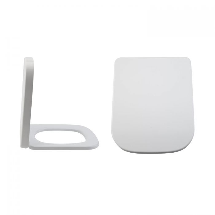Milano Longton - White Soft Close Quick Release Top Fix Toilet Seat