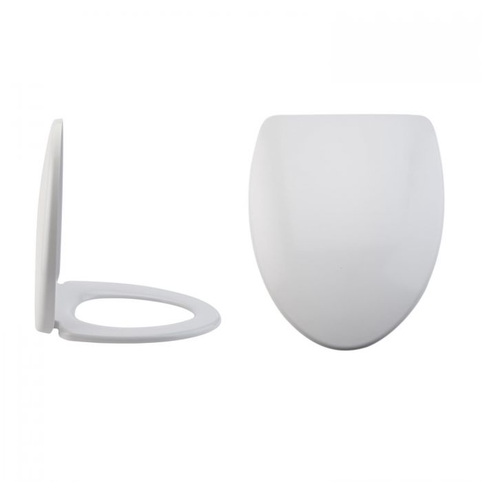 Milano Altham - White Soft -Close Quick Release Top Fix Toilet Seat