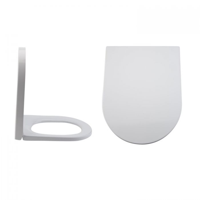 Milano Rivington - White Soft -Close Quick Release Top Fix Toilet Seat