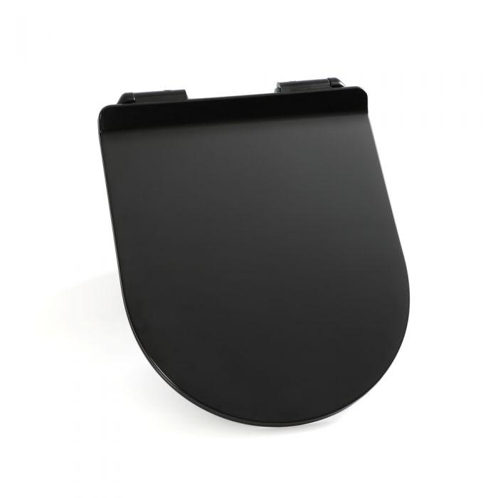 Milano Nero - Black Soft Close Quick Release Top Fix Toilet Seat
