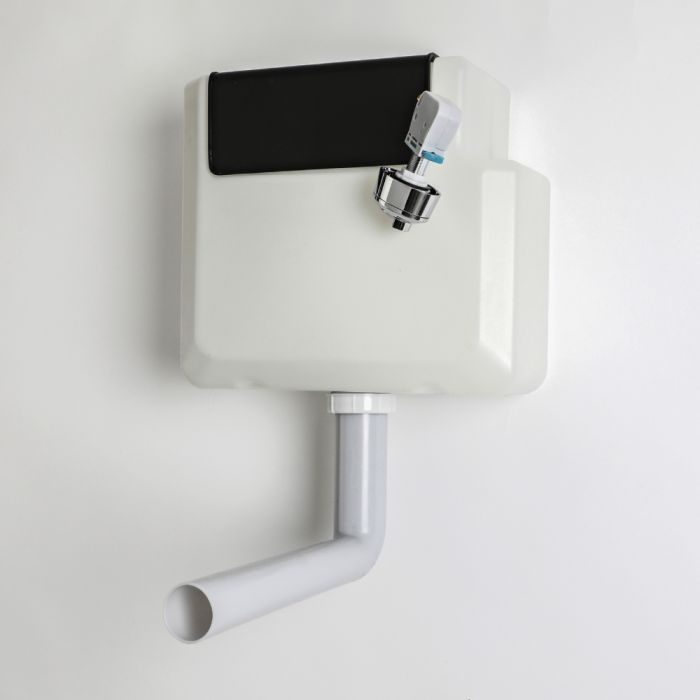 Milano - Concealed Dual Flush Cistern for Back to Wall Toilet Pan