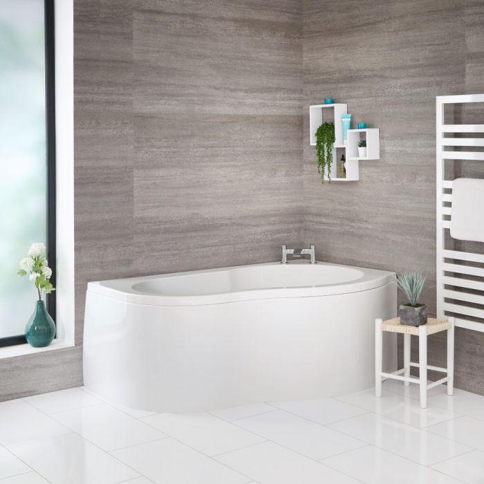 Milano - 1500mm x 1000mm Corner Bath and Panel - Right Hand