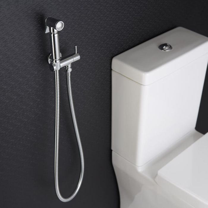 Milano Mirage - Modern Wall Hung Douche Spray - Chrome