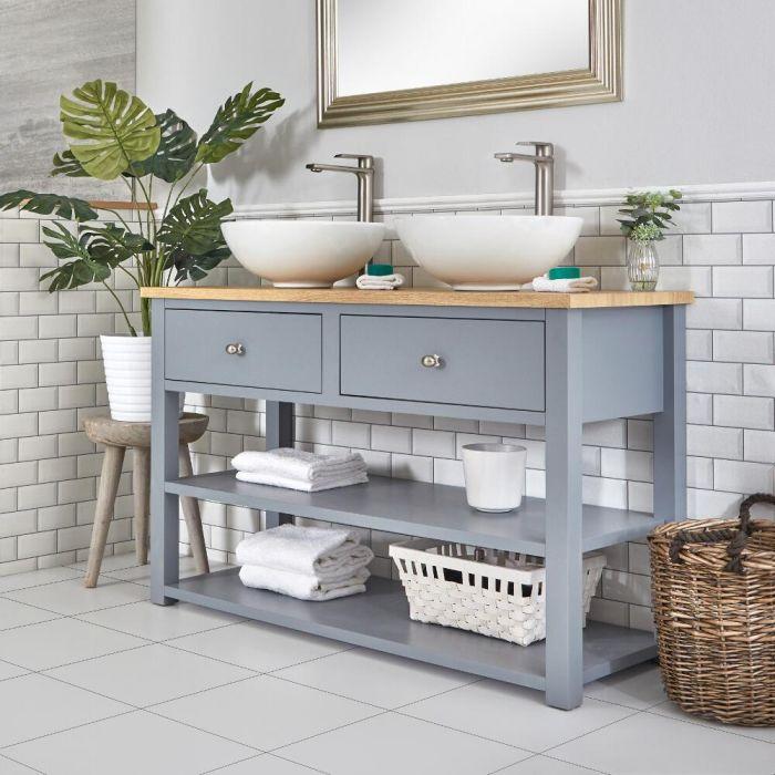Milano Henley - Light Grey 1240mm Traditional Vanity Unit