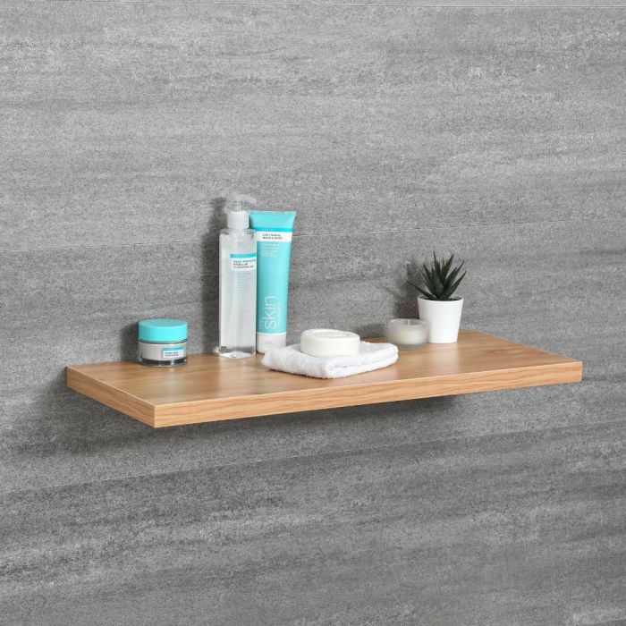 Milano Oxley - Modern 600mm x 250mm Shelf - Golden Oak