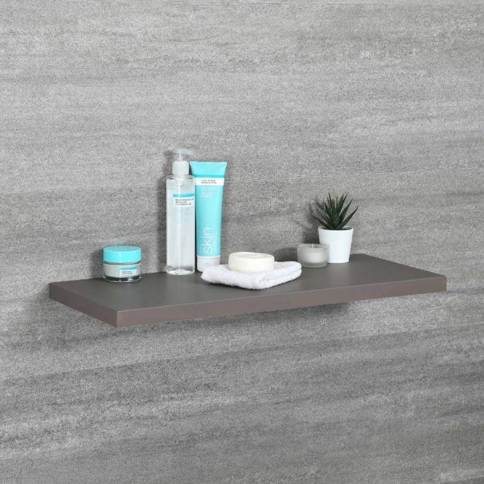 Milano Oxley - Modern 600mm x 250mm Shelf - Grey