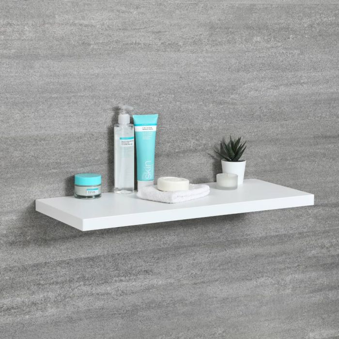 Milano Oxley - Modern 600mm x 250mm Shelf - White