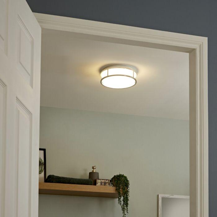Milano Enns Round LED Bathroom Ceiling Light