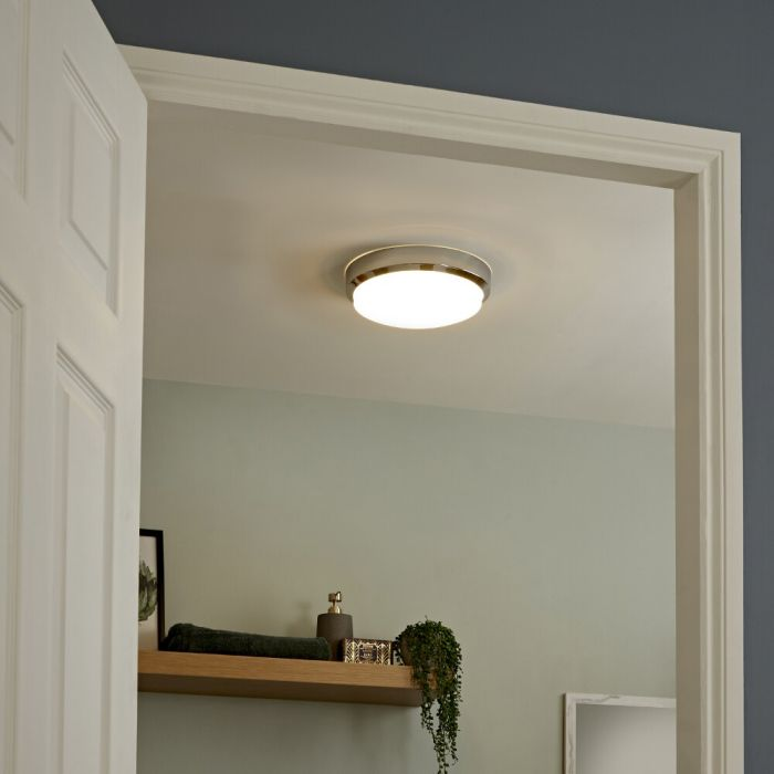 Milano Tama - Curved LED Bathroom Ceiling Light