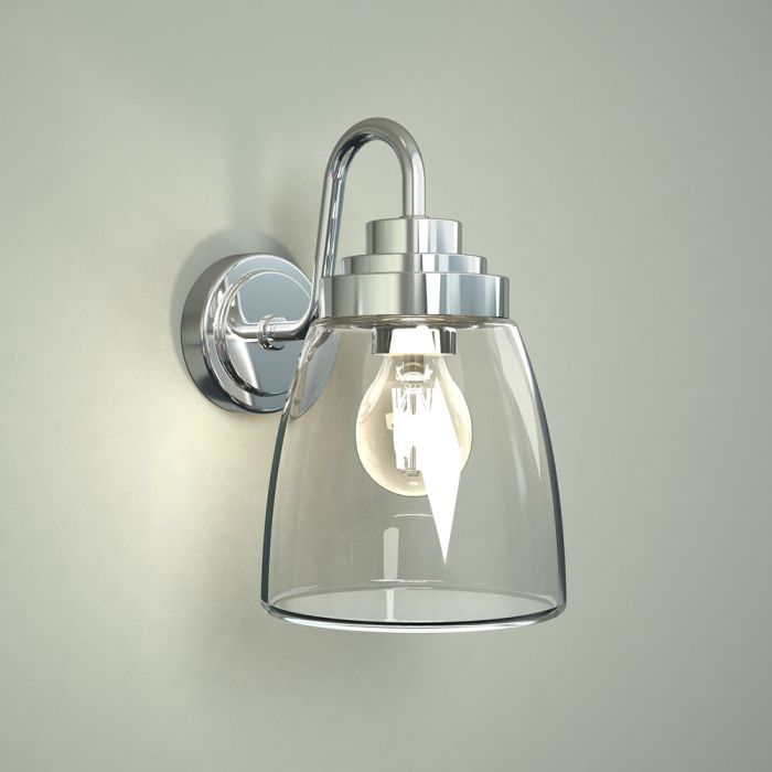 Milano Dochart Curved Glass Bathroom Wall Light
