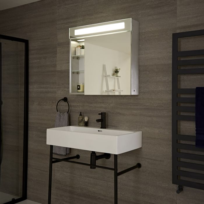 LED Bathroom Mirrored Cabinet