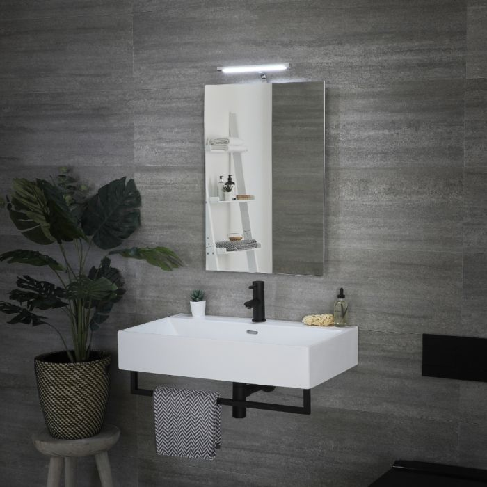 Milano Odiel - LED Bathroom Mirror with Sweep Sensor and Demister - 500mm x 755mm