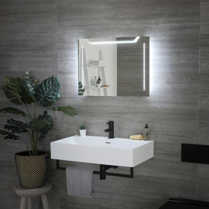 Milano Minho - LED Bathroom Mirror with Sweep Sensor & Demister - 700mm x 500mm