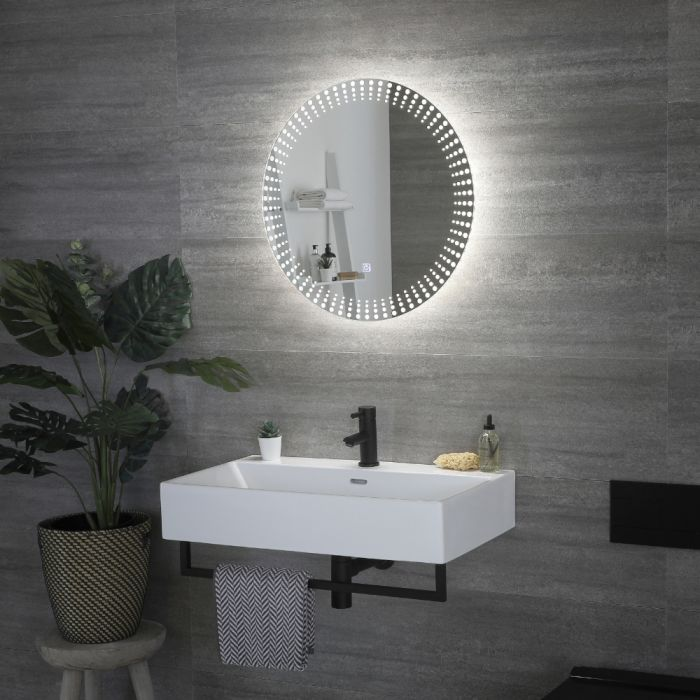 Milano Vistula - LED Bathroom Mirror with Touch Sensor - 600mm x 50mm