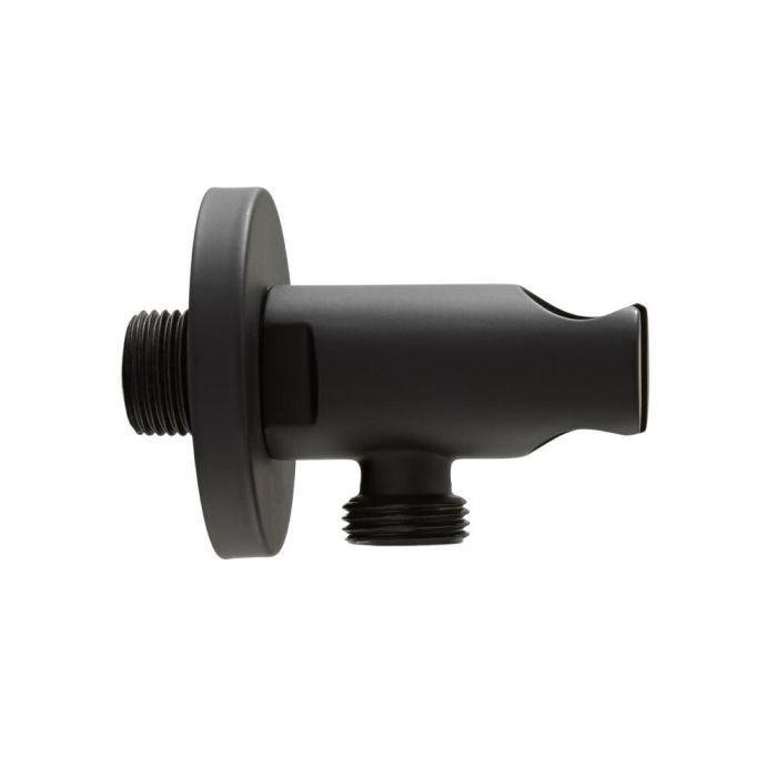 Milano Nero - Round Outlet Elbow and Bracket - Black