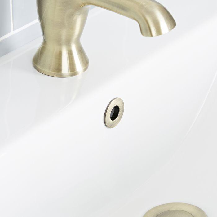 Milano - Brushed Gold Basin Overflow Ring