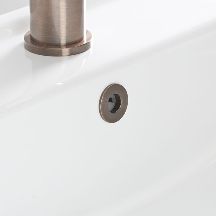 Milano - Brushed Copper Basin Overflow Ring