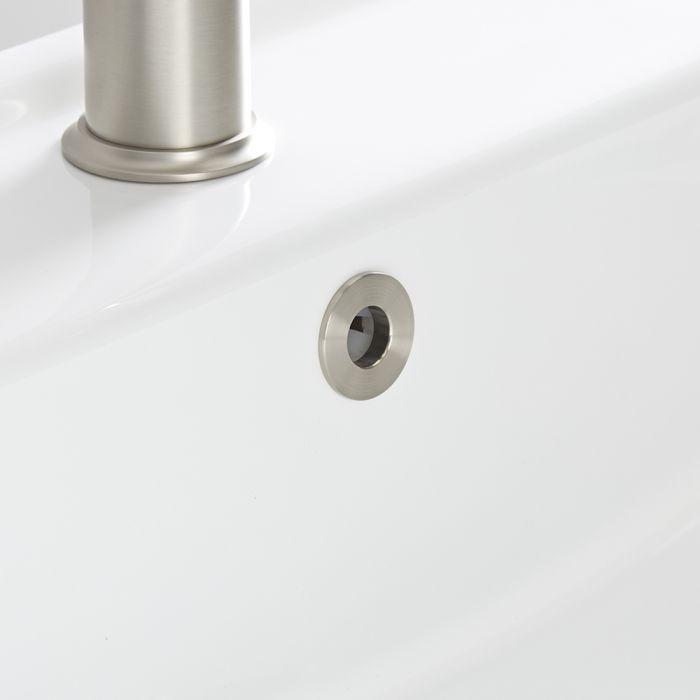 Milano - Brushed Nickel Basin Overflow Ring
