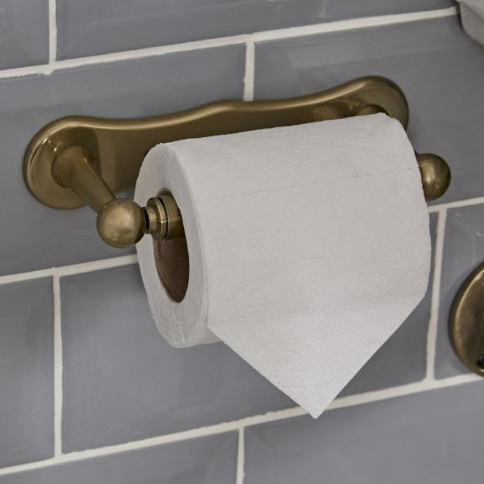 Milano Auro - Toilet Roll Holder - Brushed Gold