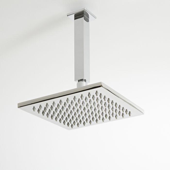 Milano Arvo - Modern Square Ceiling Shower Arm - Chrome