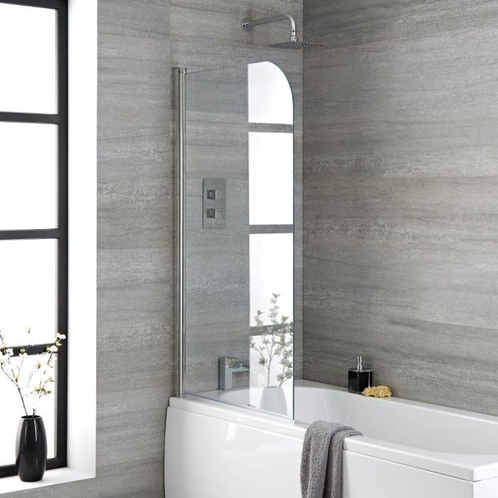Milano Portland - Curved Top Bath Shower Screen