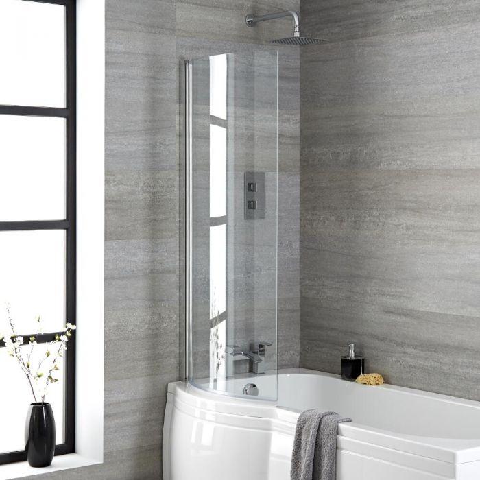 Milano Portland - Curved Bath Shower Screen