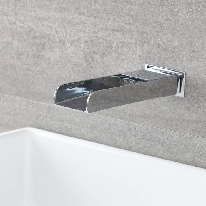 Milano Parade - Wall Mounted Basin or Bath Spout - Chrome