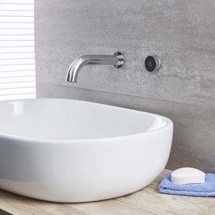 Milano Mirage - Digital Wall Mounted Bath or Basin Mixer Tap - Chrome
