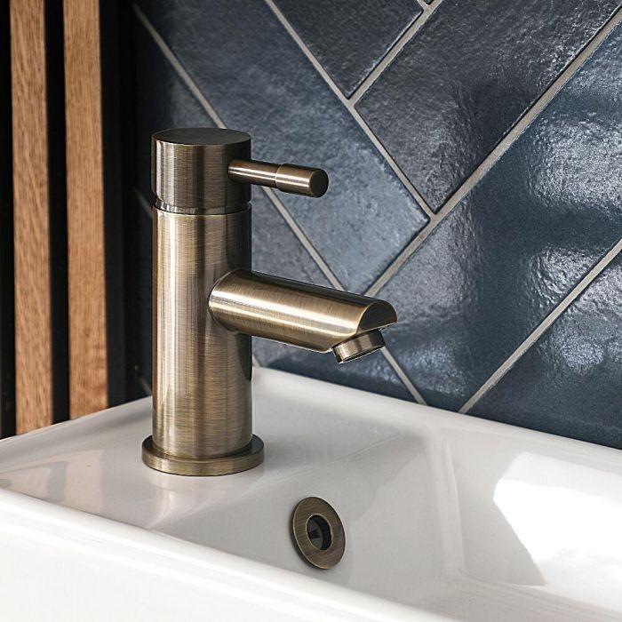 Milano Clarus - Modern Mono Basin Mixer Tap - Brushed Gold
